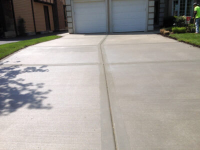 Concrete Driveway project in Maple Ontario