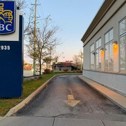 RBC drive through asphalt paving before photo