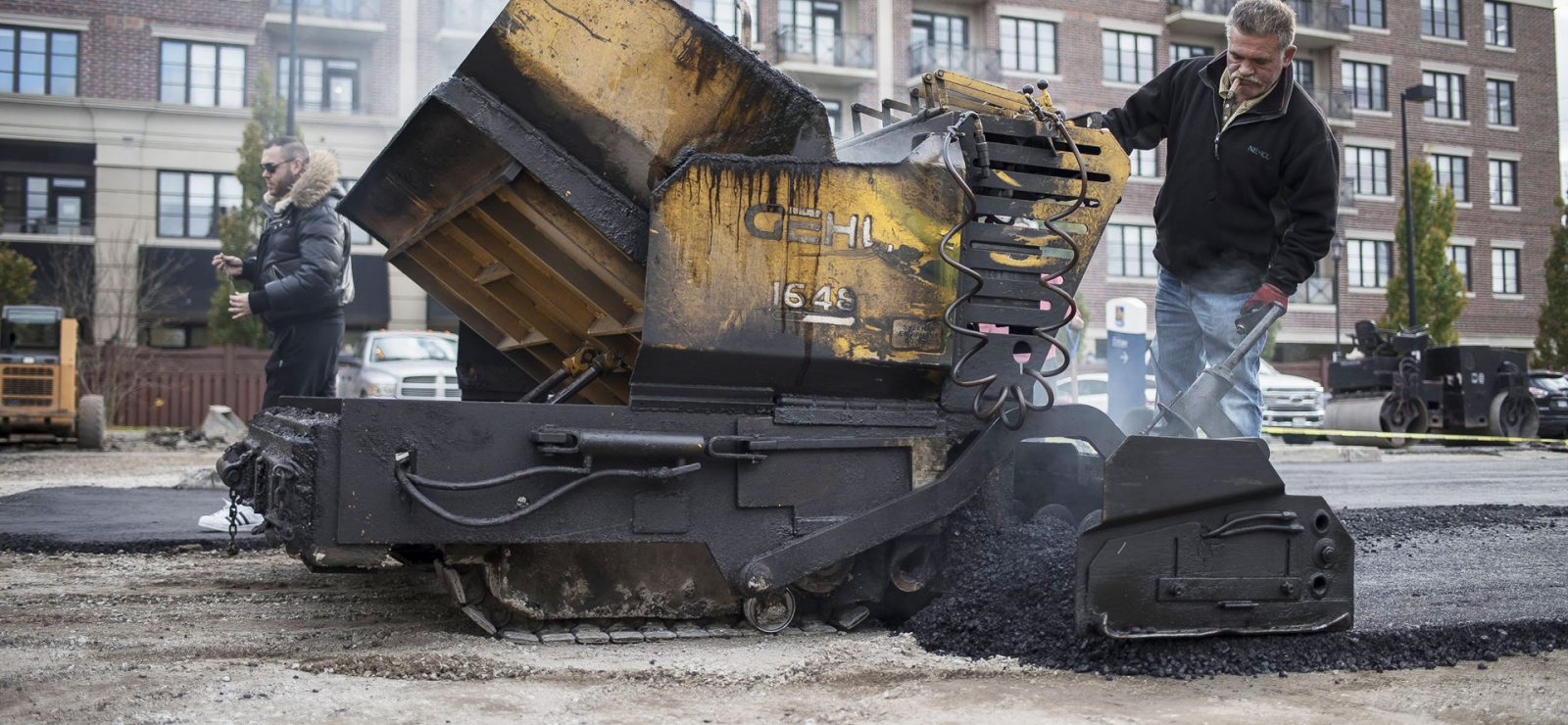 asphalt spreader paving service toronto