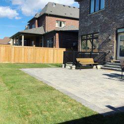 backyard finished interlock project