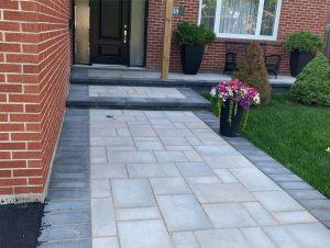 home entrance concrete paving