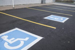 parking lot disabled spot - commercial paving