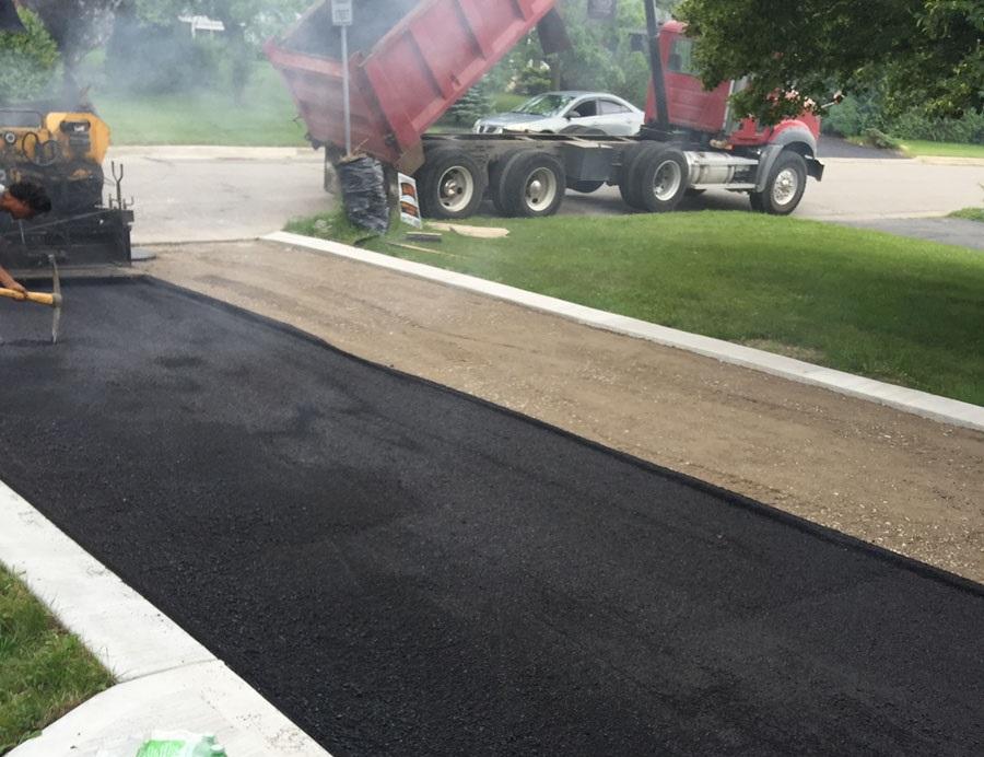 Driveway Paving in Progress by VIP Paving Richmond Hill
