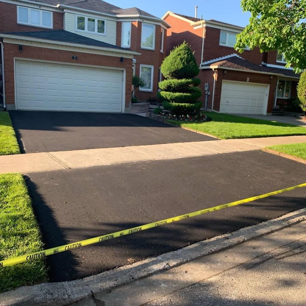 Finished Asphalt Driveway for Privet Home Toronto