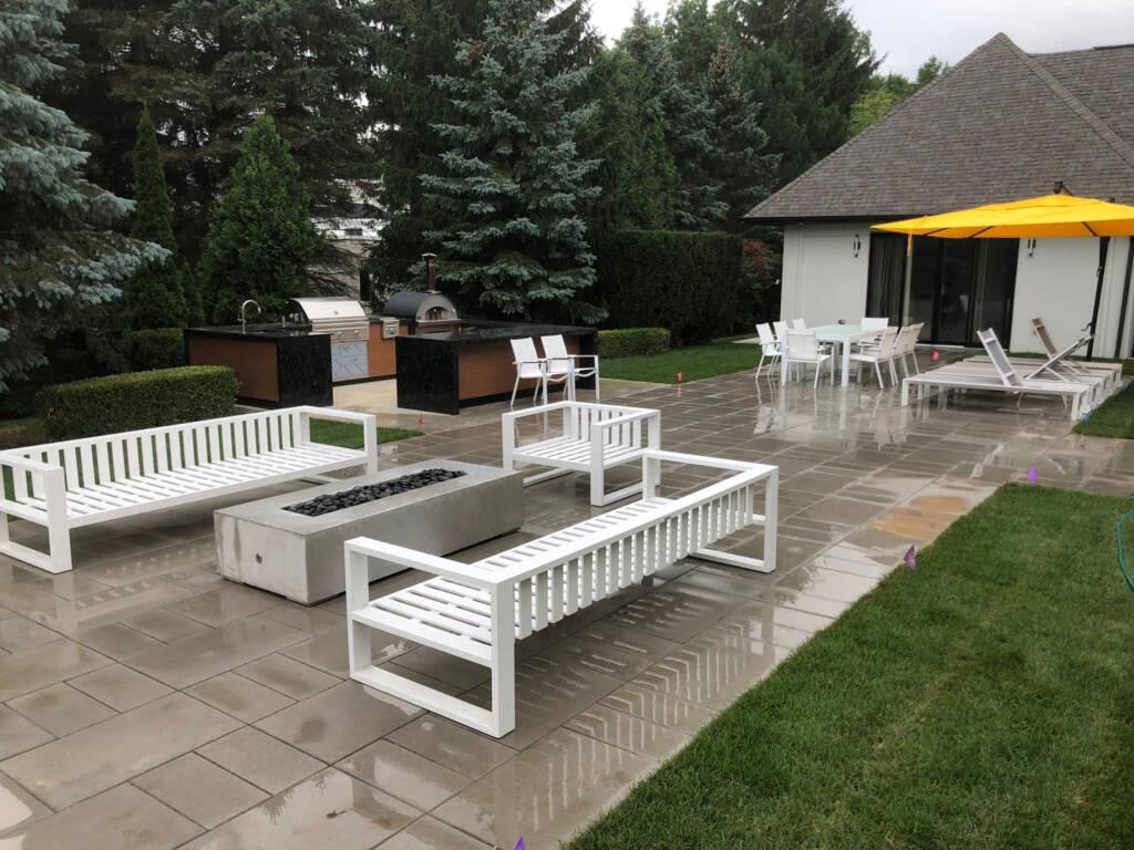 Amazing Backyard with Custom Interlocking Project Oakville