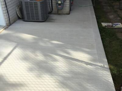 Concrete Interlocking Side of Residential Home Newmarket