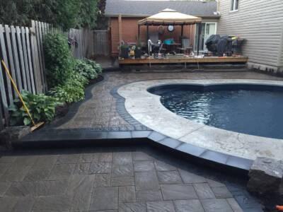 Backyard Swimming Pool Interlocking Project Vaughan