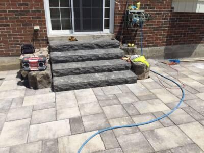 Custom Home Backyard Interlocking Project Scarborough