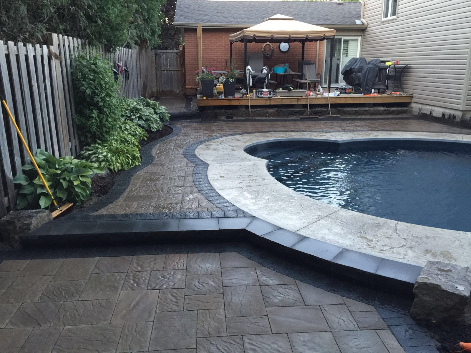 natural stone paving on the patio